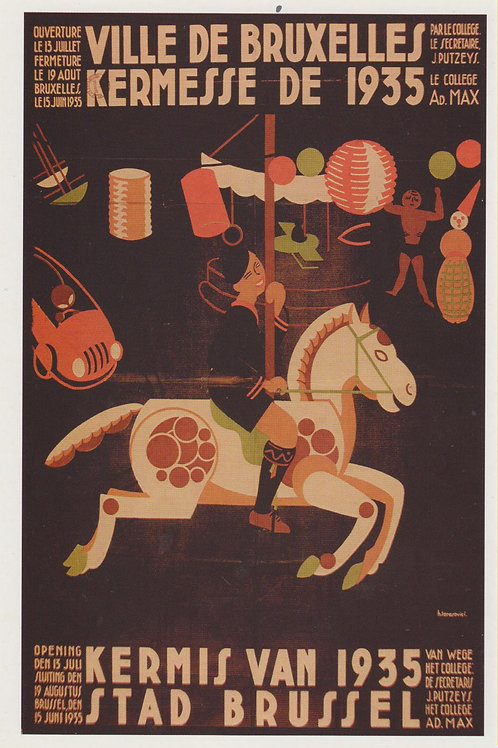 Carte postale / Kermesse de la Ville de Bruxelles