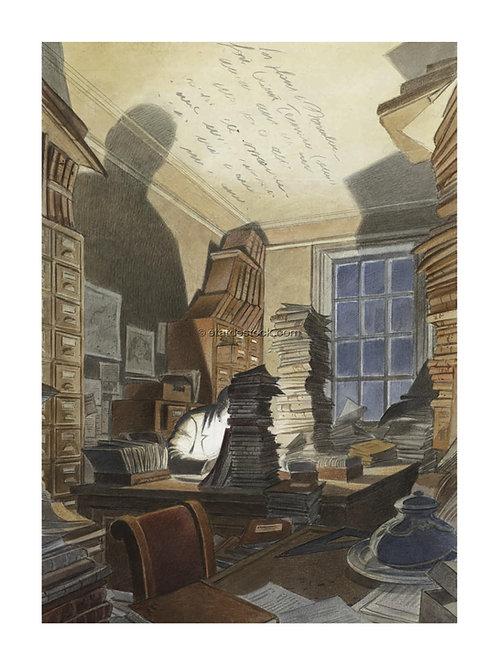 Affiche (big) / Bibliothèque Mundaneum - François Schuiten