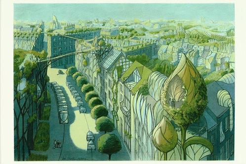 Carte postale / Toits jardins 1 - Luc Schuiten
