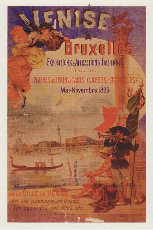 Carte postale / Venise à Bruxelles