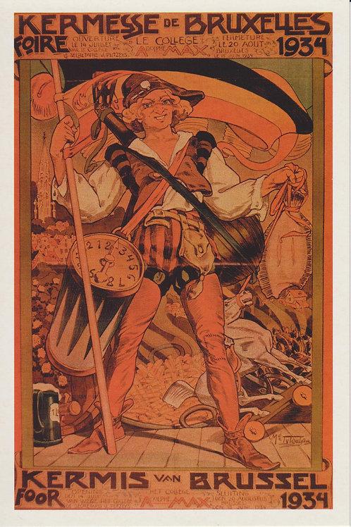 Carte postale / Kermesse de Bruxelles - Foire 1934