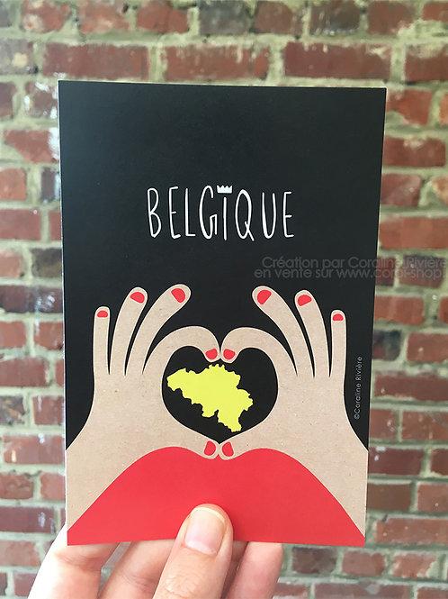 Carte postale / J'aime la Belgique