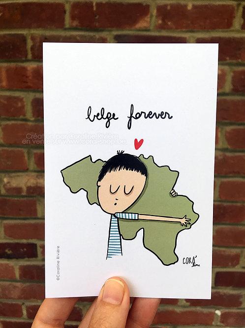 Carte postale / Belge forever