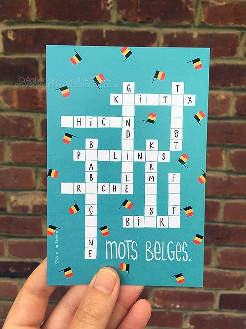 Carte postale / Mots belges