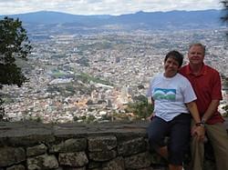 The Hoopers overlooking Teguz