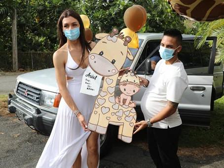 Danna Sultana y Esteban Landrau celebraron el baby shower de su hijo