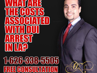 What are the Costs Associated with DUI Arrest in LA?