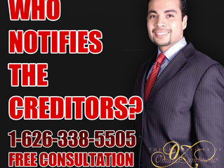 Who notifies the creditors?