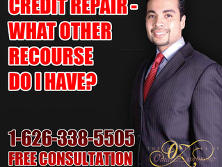 Credit Repair - What Other Recourse Do I Have?