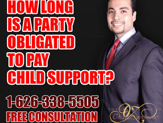 How long is a party obligated to pay child support?