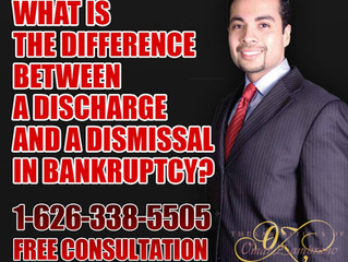 What is the difference between a Discharge and a Dismissal in bankruptcy?