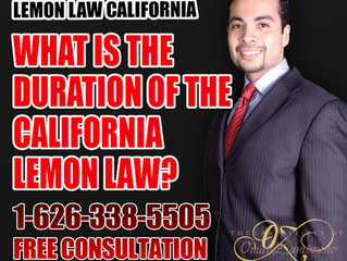 What is the Duration of the California Lemon Law?