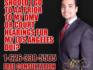Should I go to AA prior to my DMV or court hearings for my Los Angeles DUI?
