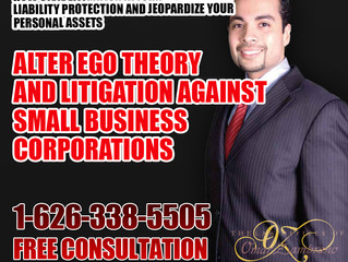 Alter Ego Theory and Litigation against Small Business Corporations.