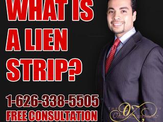 What is a lien strip?