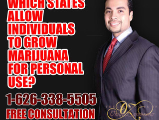 Which states allow individuals to grow marijuana for personal use?