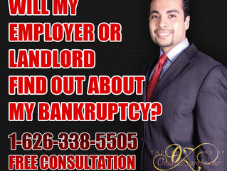Will my employer or landlord find out about my bankruptcy?
