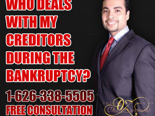 Who deals with my creditors during the bankruptcy?