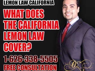 What does the California Lemon Law covers?