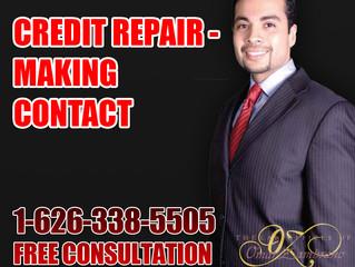 Credit Repair - Making Contact