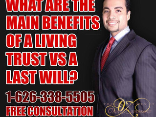 What are the main benefits of a living trust vs a last will?