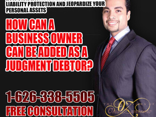 How can a business owner be added as a judgment debtor?