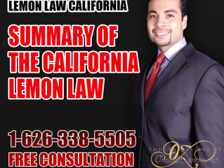 Summary of the California Lemon Law