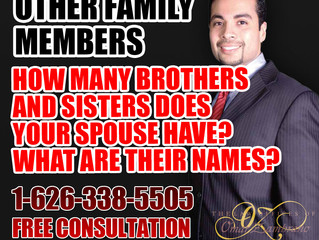 Other Family Members - How Many Brothers And Sisters Does Your Spouse Have? What Are Their Names?