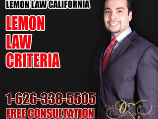 Lemon Law Criteria
