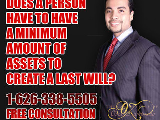 Does a person have to have a minimum amount of assets to create a last will?