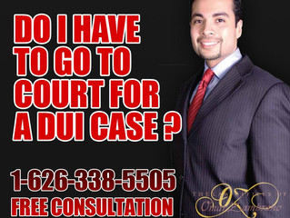Do I have to go to court for a DUI case ?