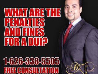 What are the penalties and fines for a DUI?