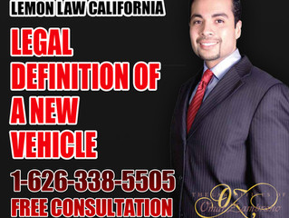 Legal Definition of a New Vehicle