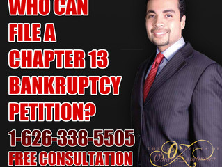 Who can file a chapter 13 bankruptcy petition?