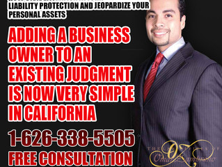Adding a Business Owner to an Existing Judgment is now very simple in California.