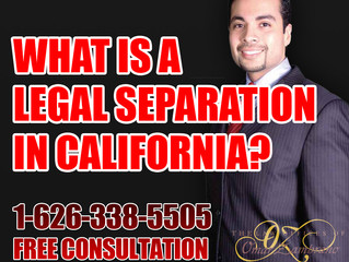 What is a legal separation in California?