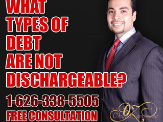 What types of debt are not dischargeable?