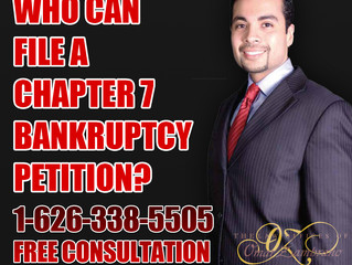 Who can file a chapter 7 bankruptcy petition?