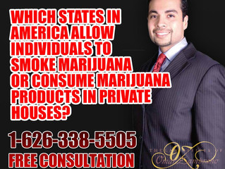 Which states in America allow individuals to smoke marijuana or consume marijuana products in privat