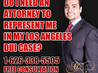 Do I need an attorney to represent me in my Los Angeles DUI case?