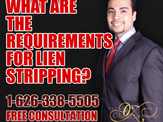 WHAT ARE THE REQUIREMENTS FOR LIEN STRIPPING?