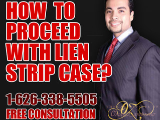 How to Proceed with a lien strip ?