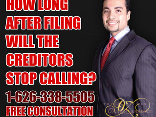 How long after filing will the creditors stop calling?