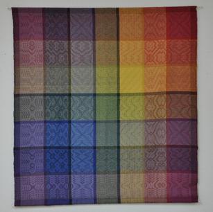 Example: Shadow Weave / Color Gamp Baby Blanket