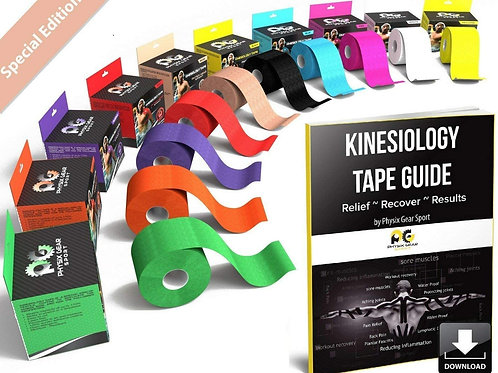 Physix Gear Sport Kinesiology Tape 5cm x5m roll