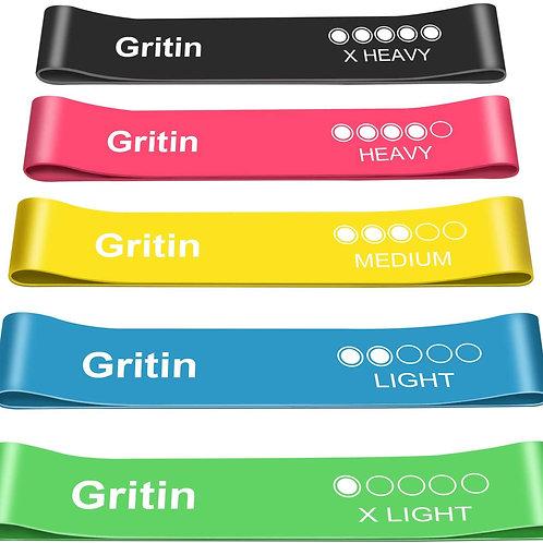 Gritin Resistance Bands - Set of 5
