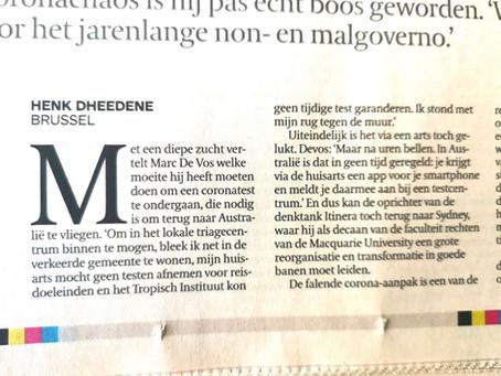 Beste Prof. De Vos , volgende keer beter Hap.Gent contacteren....