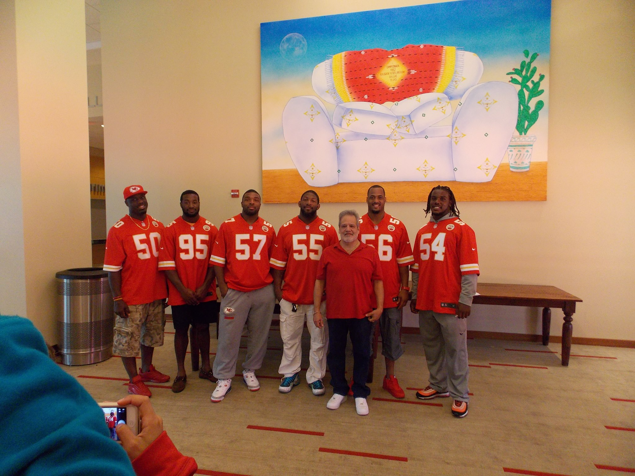 With KC Chief LBs @ Arrowhead 2013