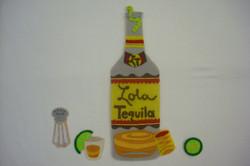Tequila Bottle, Lime & Salt