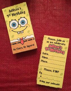 SpongeBob Invitations
